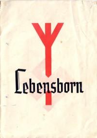 """""""Lebensborn""""-broschüre für die werdende Mutter (Heim """"Harz"""" Wernigerode 1943)"""